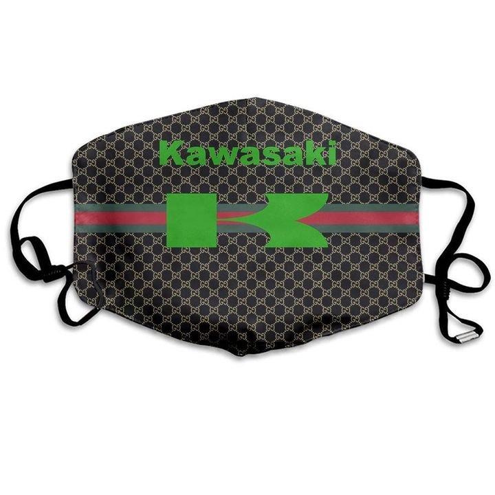 Kawasaki motor symbol anti-dust cotton face mask 3