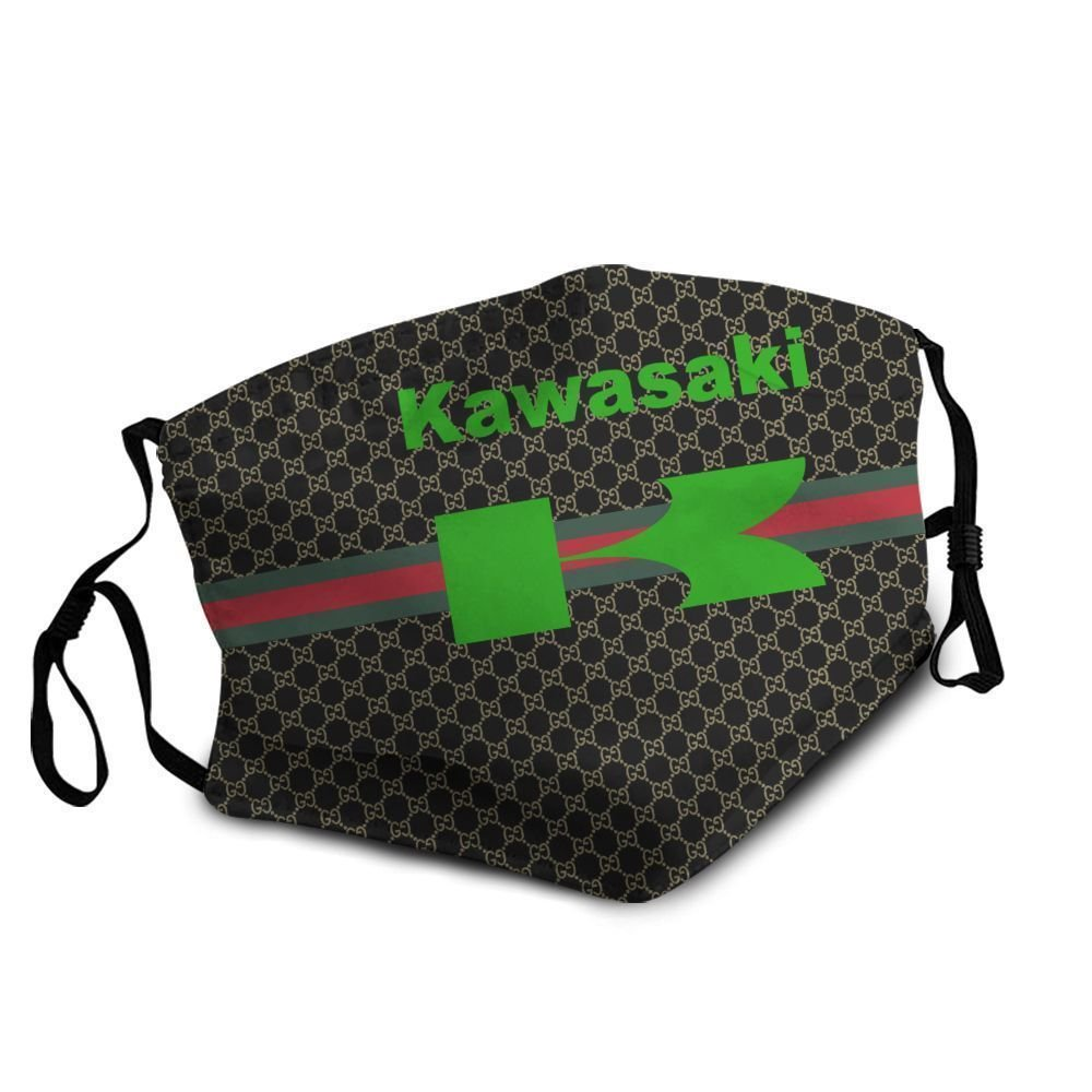Kawasaki motor symbol anti-dust cotton face mask 4