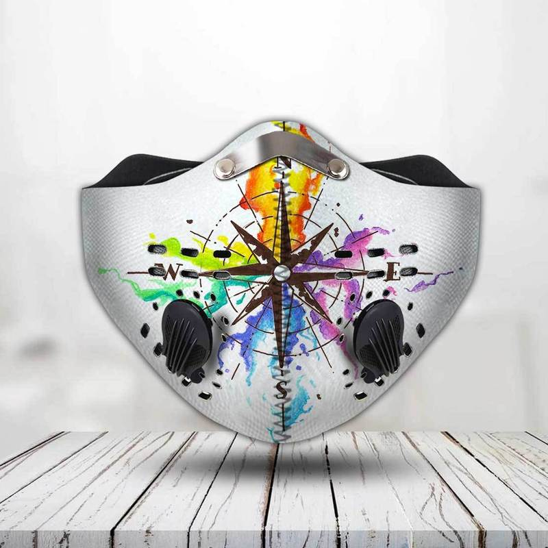 LGBT pride compass filter activated carbon face mask 2