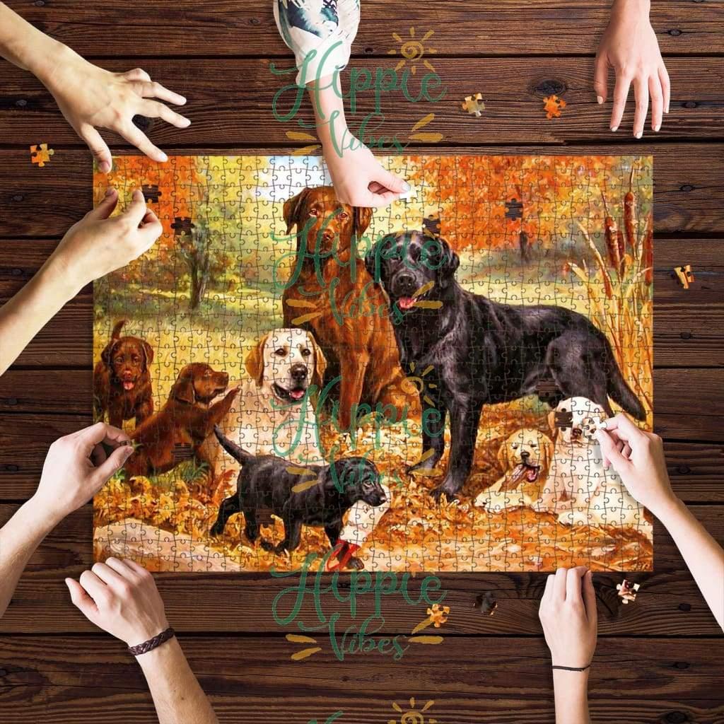 Labrador retriever family jigsaw puzzle 1
