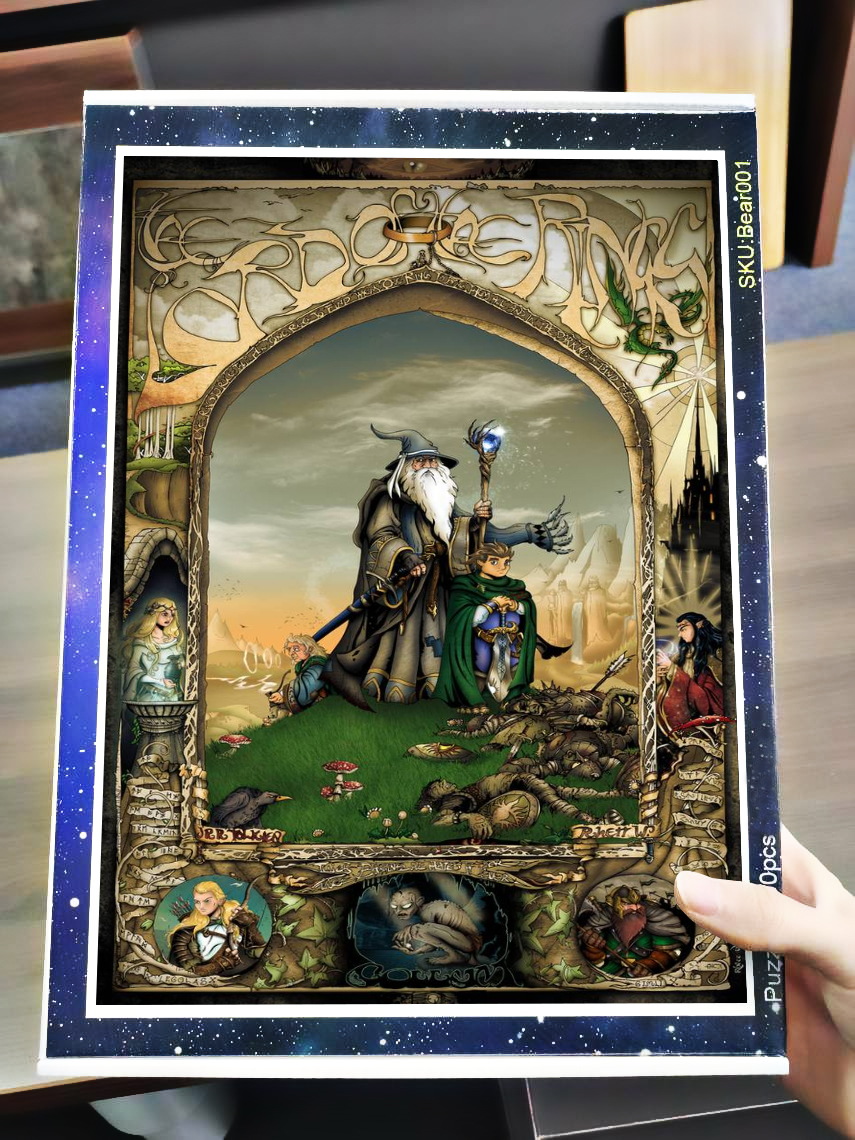 Lord of the rings jigsaw puzzle 4