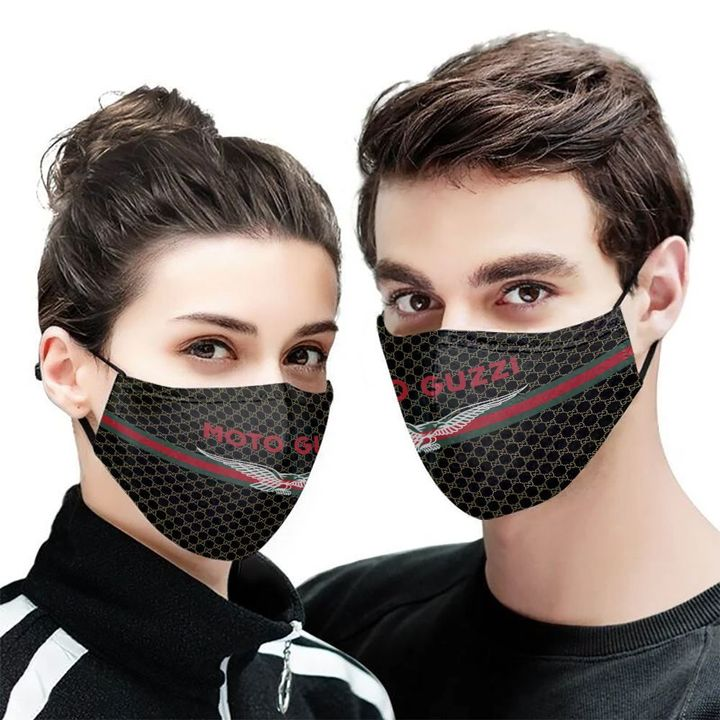 Moto guzzi symbol anti-dust cotton face mask 2