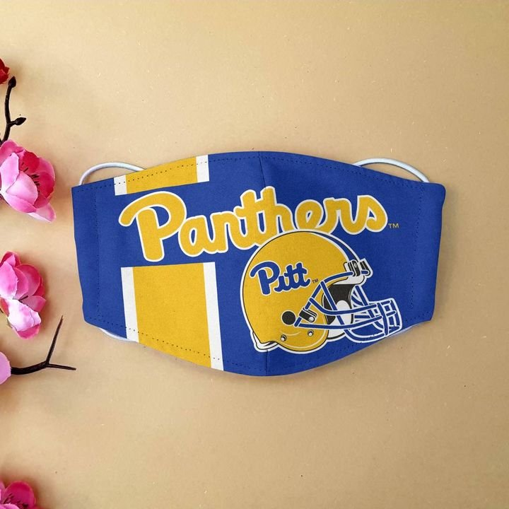 National football league pittsburgh panthers cotton face mask 4