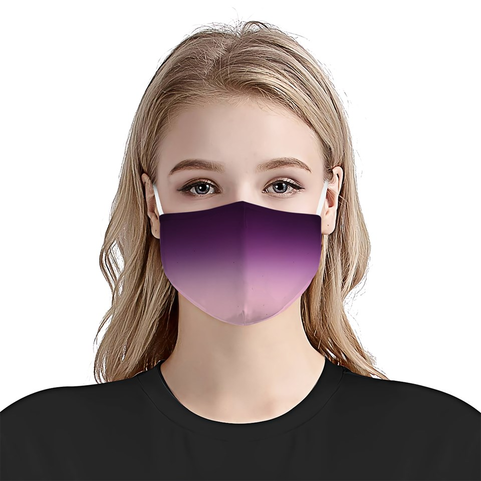 Ombre purple watercolor anti-dust cotton face mask 2