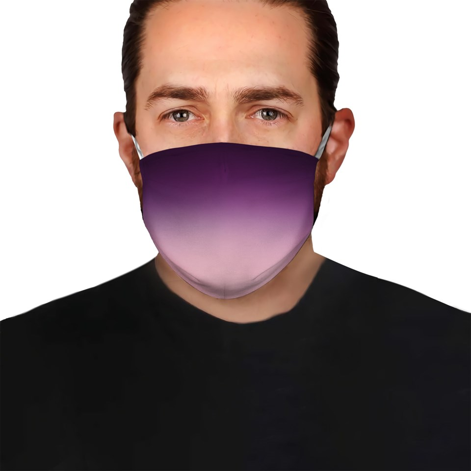 Ombre purple watercolor anti-dust cotton face mask 4