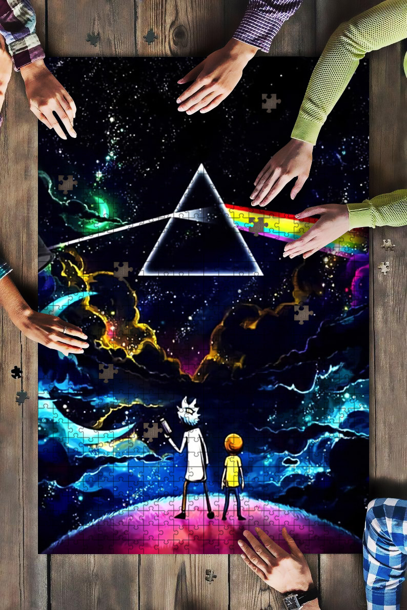 Pink floyd the dark side of the moon rick and morty jigsaw puzzle 1