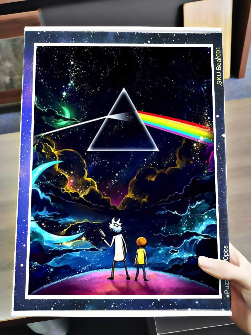 Pink floyd the dark side of the moon rick and morty jigsaw puzzle 4