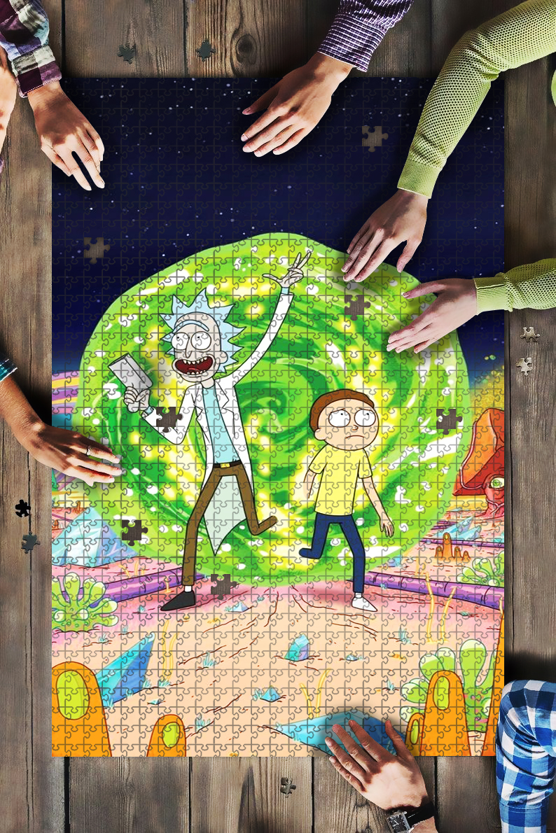 Rick and morty tv series jigsaw puzzle 4