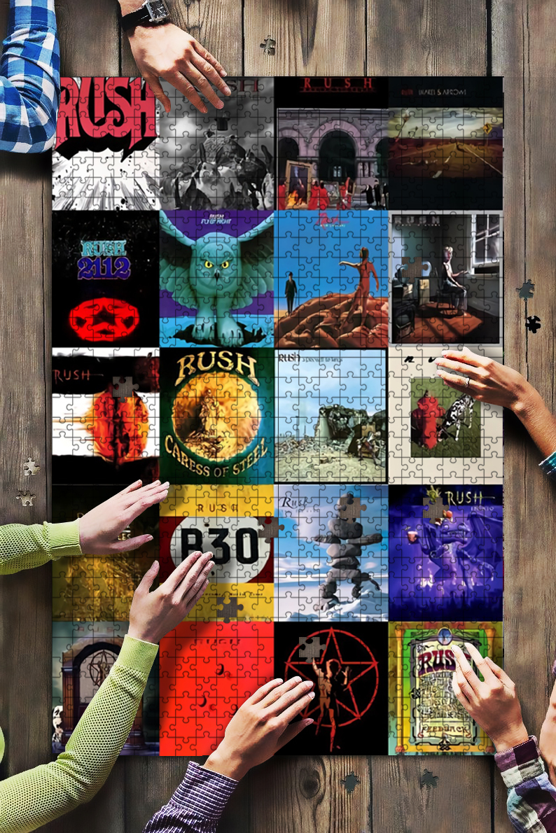 Rush caress of steel rock band jigsaw puzzle 4
