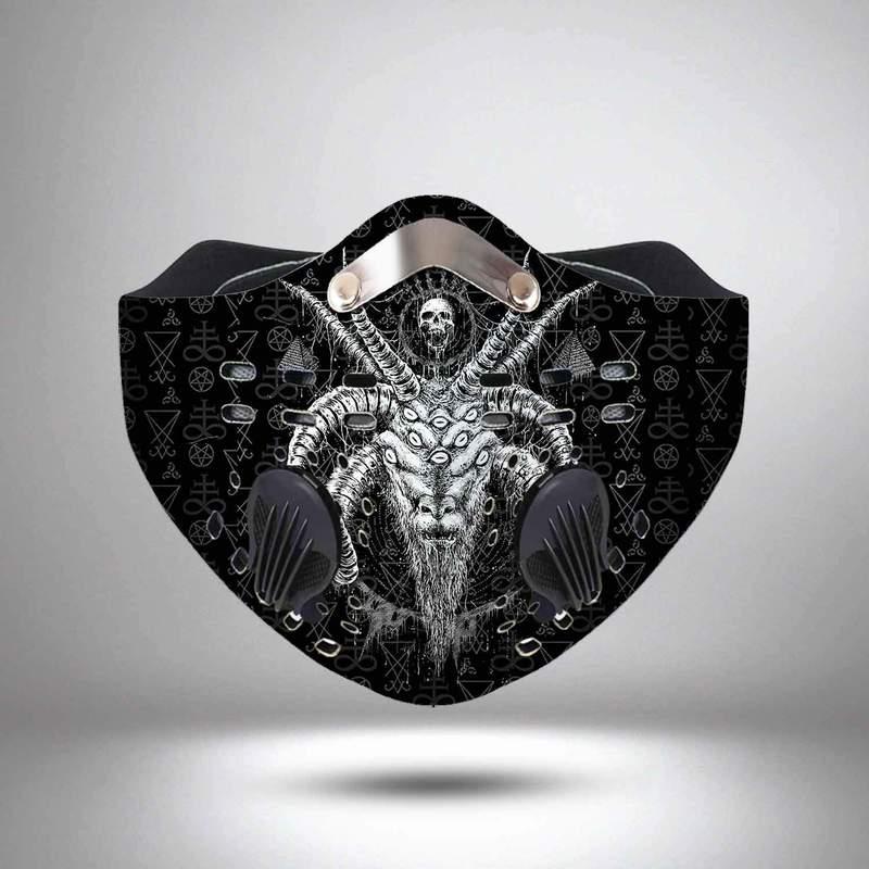 Satanic satan filter activated carbon face mask 1