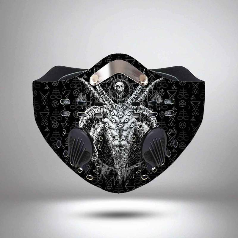 Satanic satan filter activated carbon face mask 3