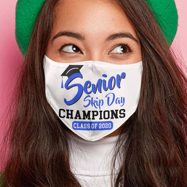 Senior skip day champions class of 2020 cotton face mask 1