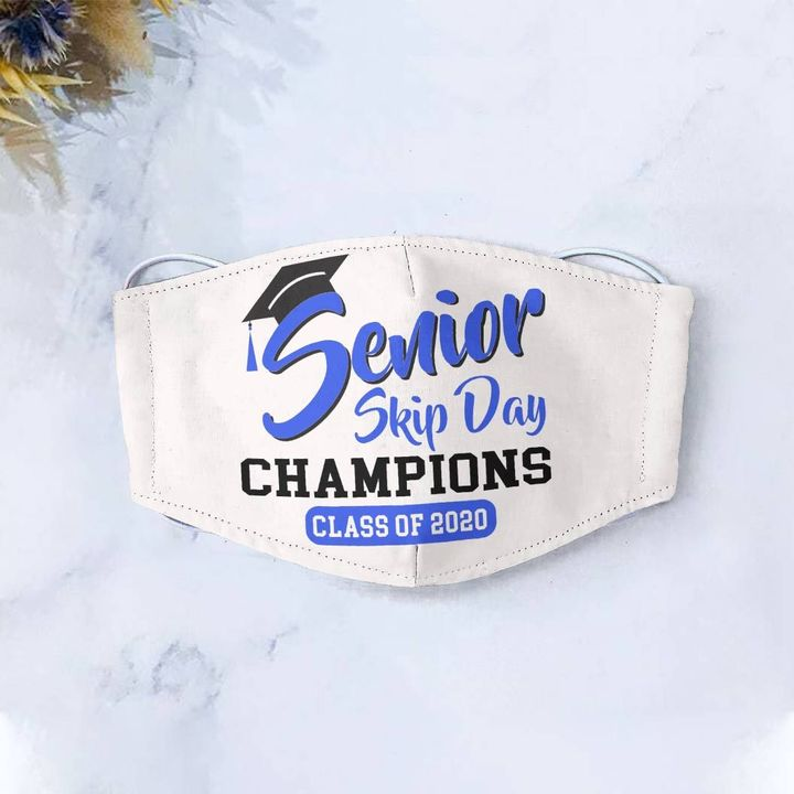 Senior skip day champions class of 2020 cotton face mask 3