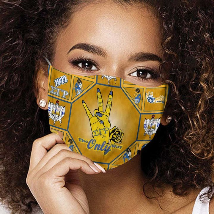 Sigma gamma rho sorority anti-dust cotton face mask 1