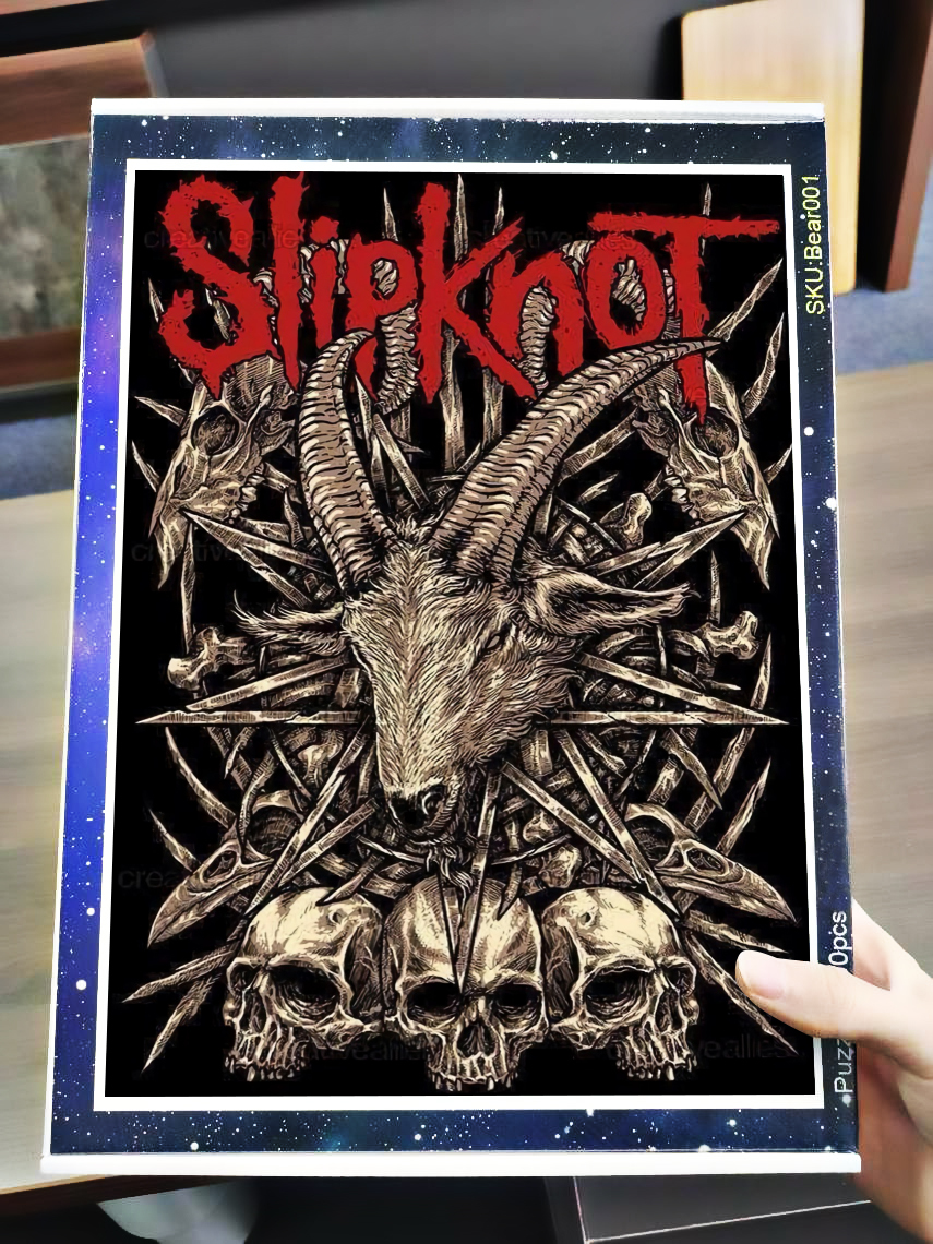 Slipknot satanic rock band jigsaw puzzle 4