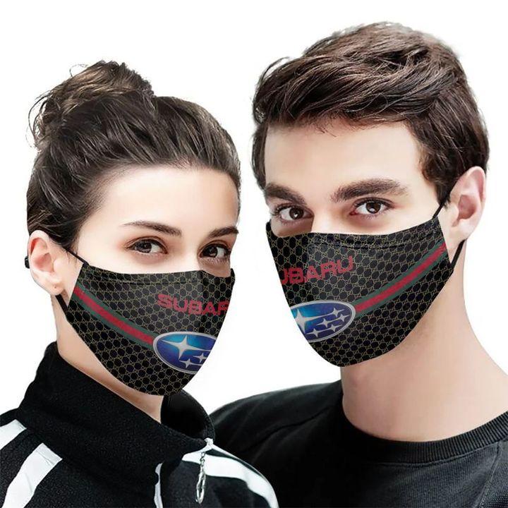 Subaru symbol anti-dust cotton face mask 2
