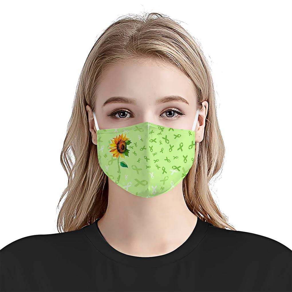 Sunflower celiac disease awareness anti-dust cotton face mask 2