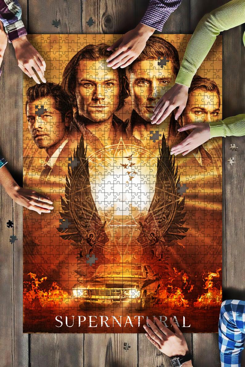 Supernatural tv series jigsaw puzzle 1