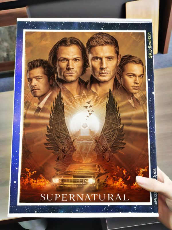 Supernatural tv series jigsaw puzzle 4