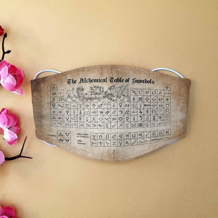 The alchemical table of symbol anti-dust cotton face mask 4