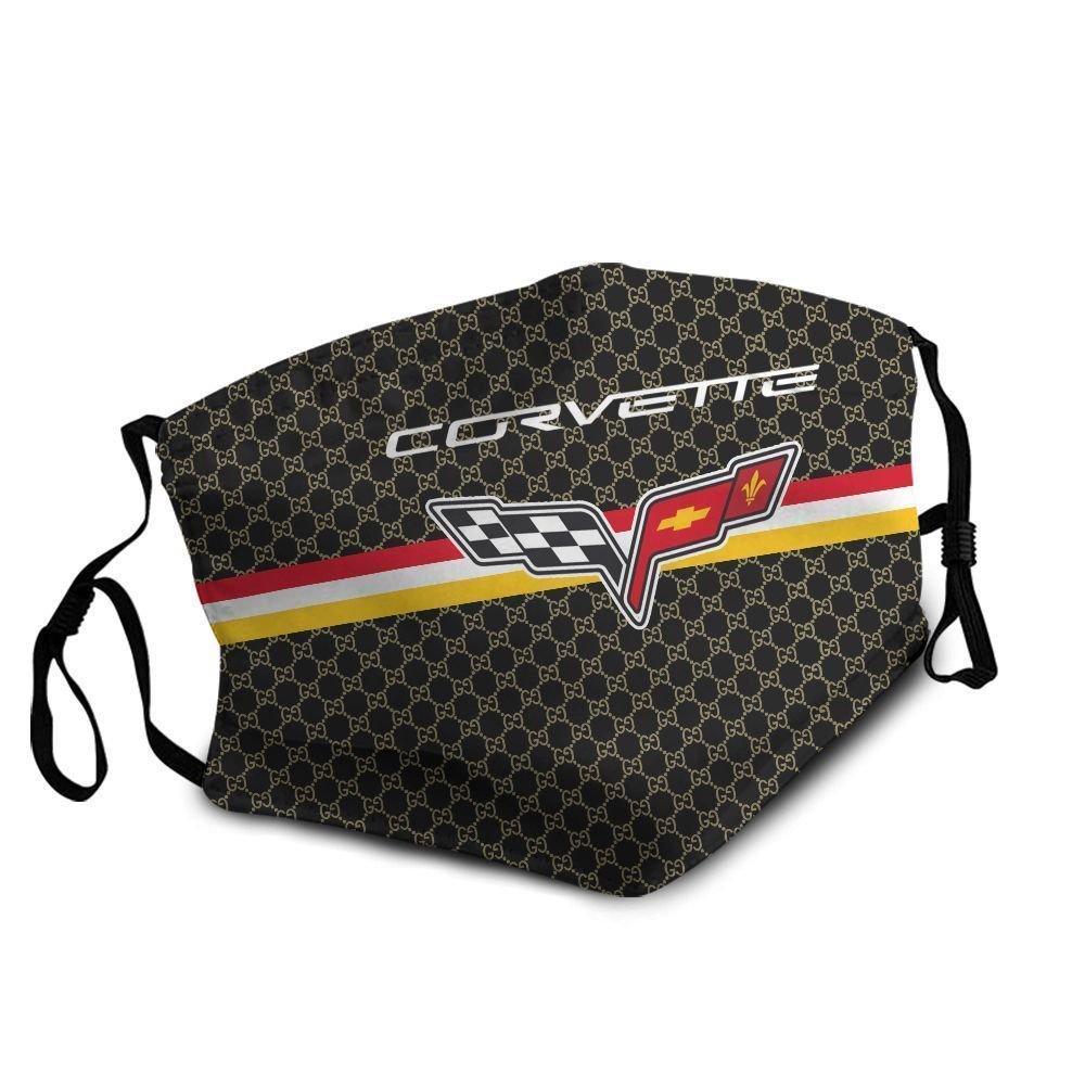 The chevrolet corvette symbol anti-dust cotton face mask 4