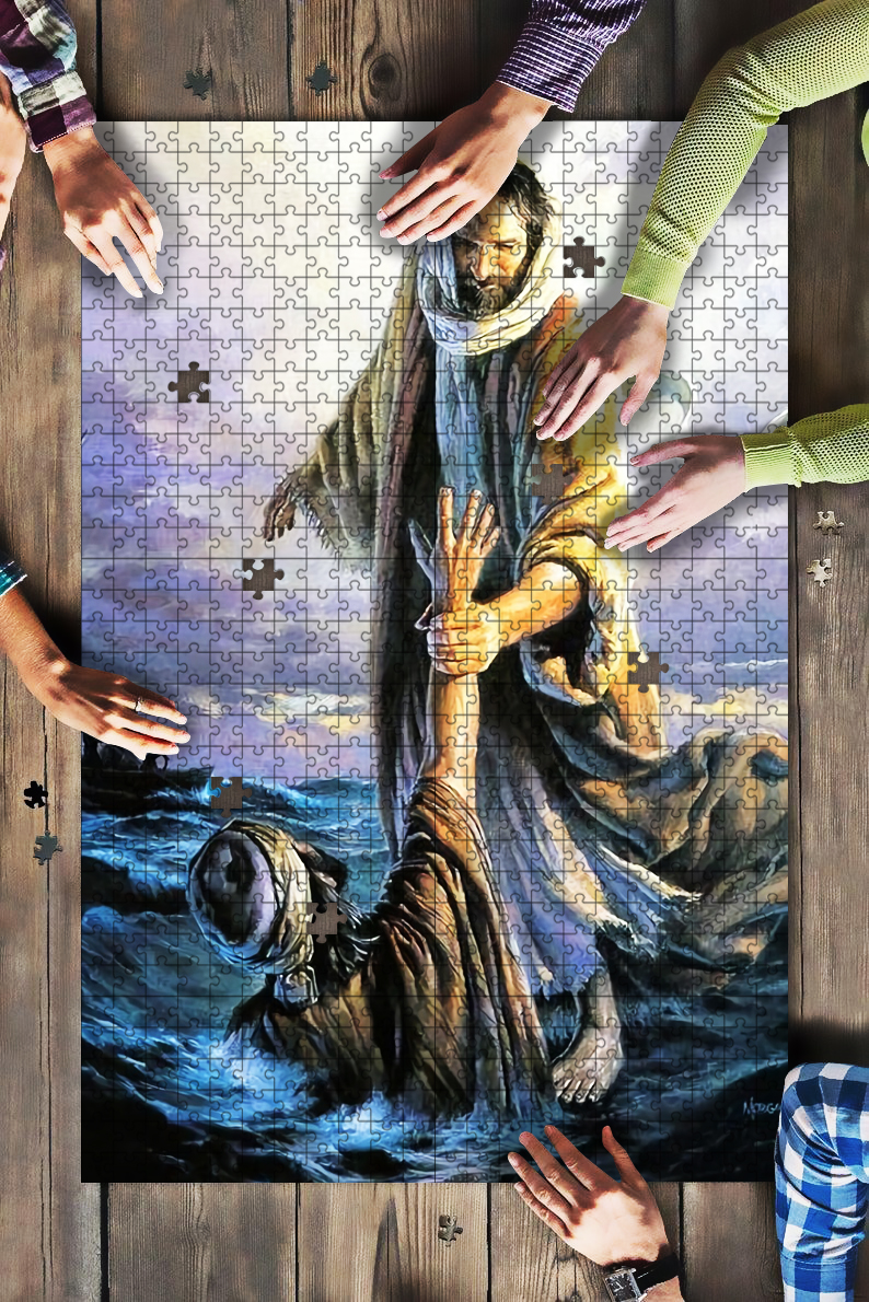 The hand of God jigsaw puzzle 1