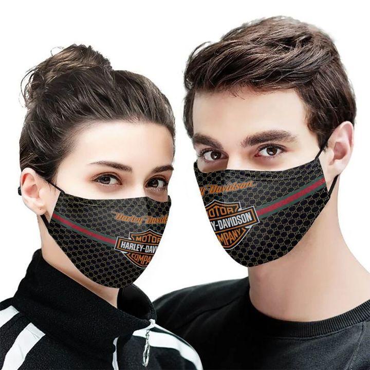 The harley-davidson motor company symbol cotton face mask 2