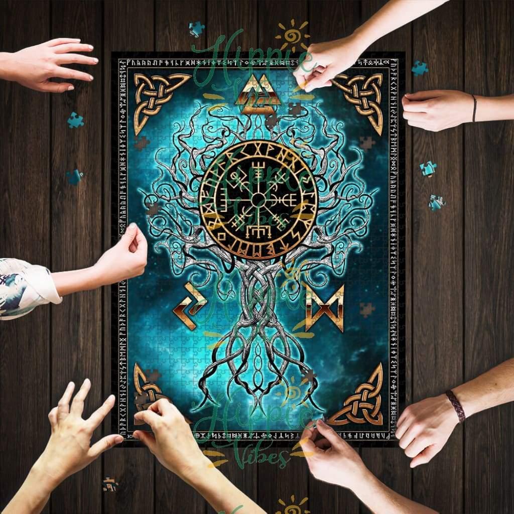 The tree of life yggdrasil viking jigsaw puzzle 1