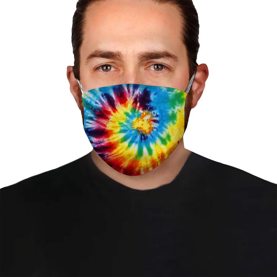 Tie dye colorful vintage anti-dust cotton face mask 2