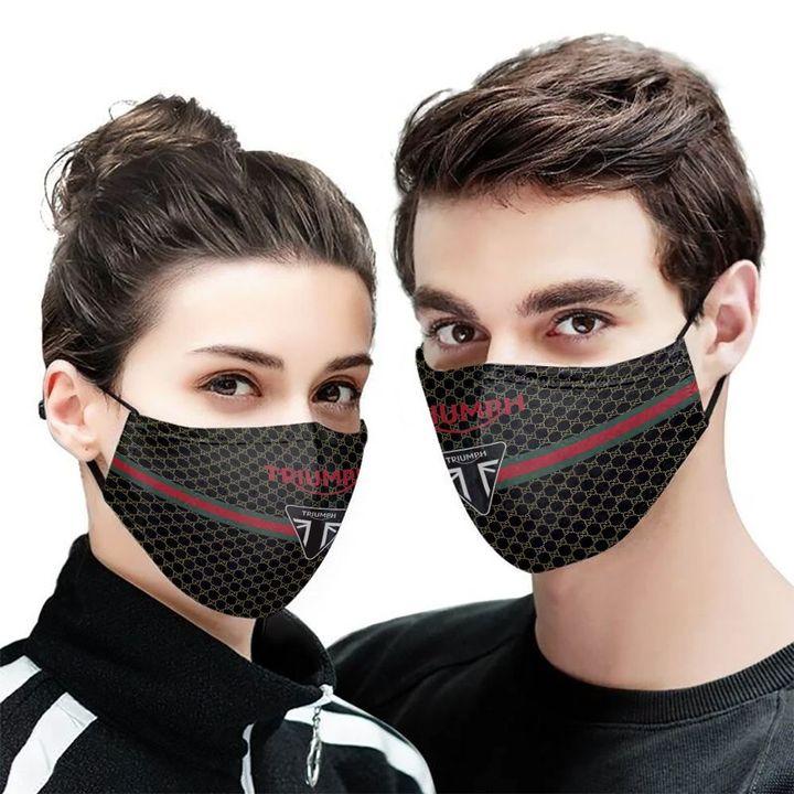 Triumph motorcycles symbol anti-dust cotton face mask 1