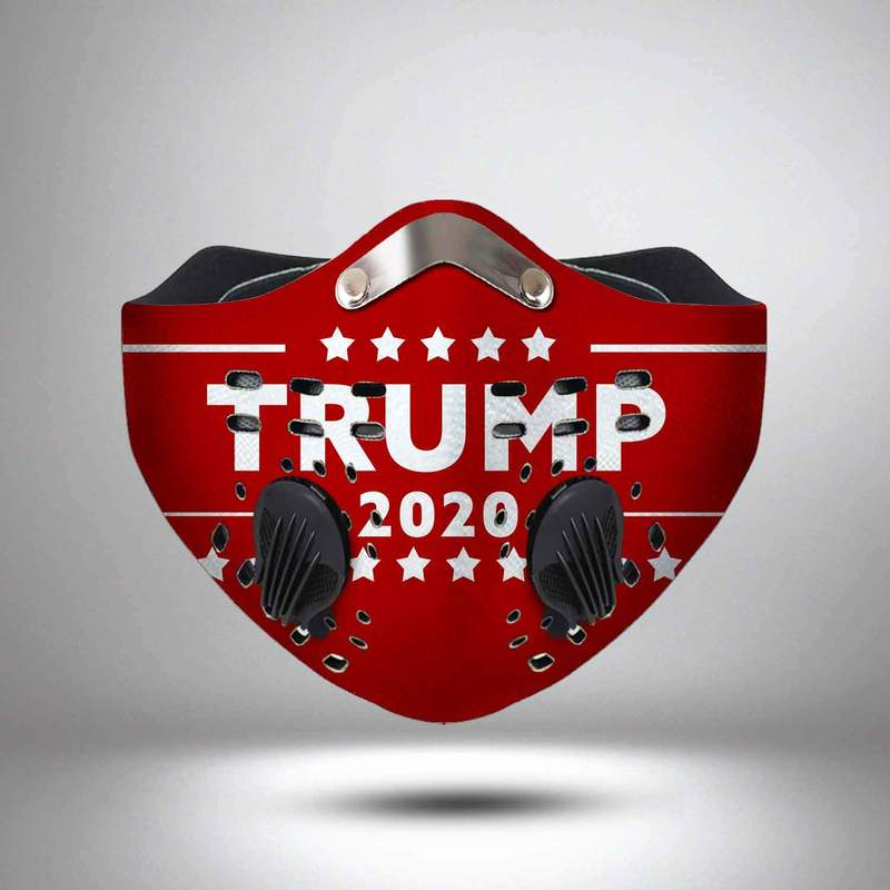 Trump 2020 pattern filter activated carbon face mask 3