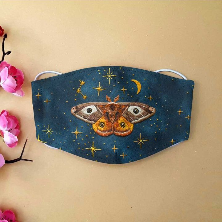 Twinkling night butterfly anti-dust cotton face mask 2