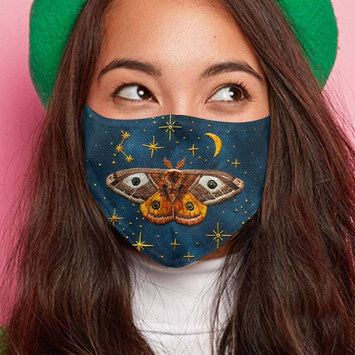 Twinkling night butterfly anti-dust cotton face mask 3
