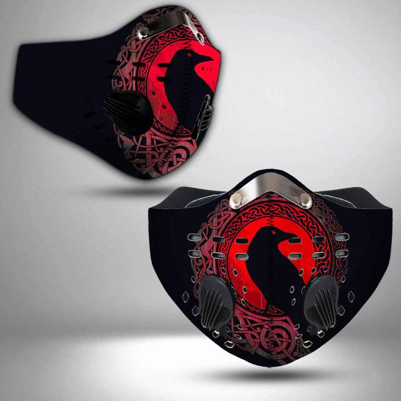 Viking raven filter activated carbon face mask 3