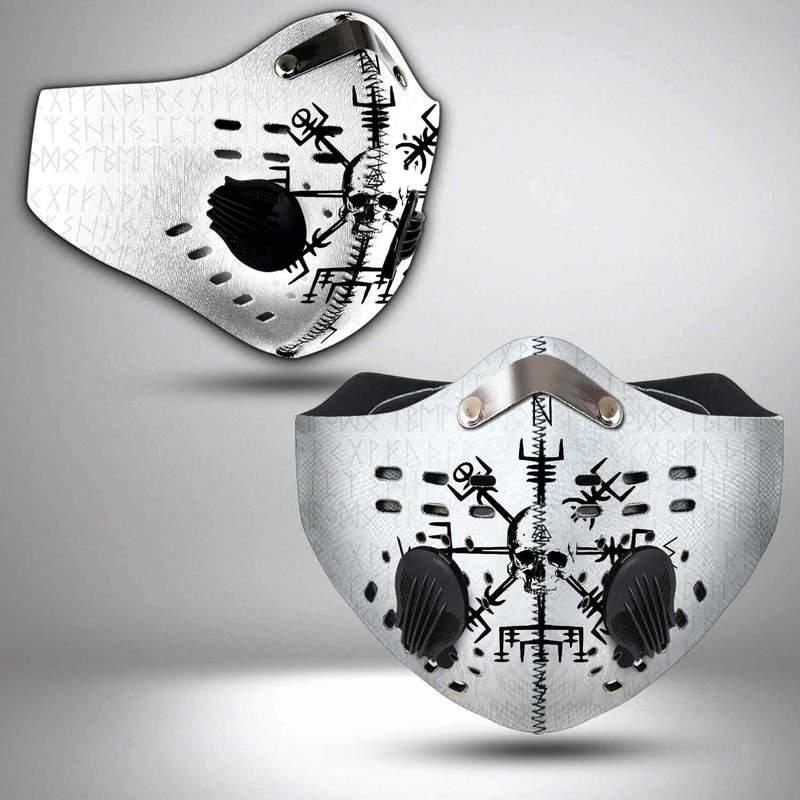 Viking symbols skull filter activated carbon face mask 4