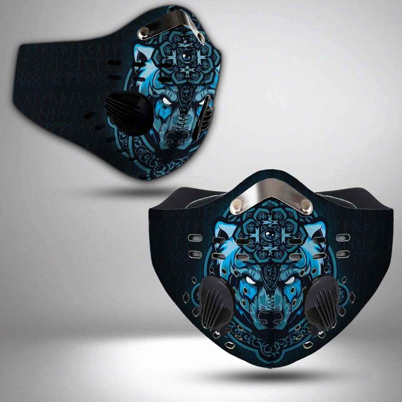 Viking wolf filter activated carbon face mask 2