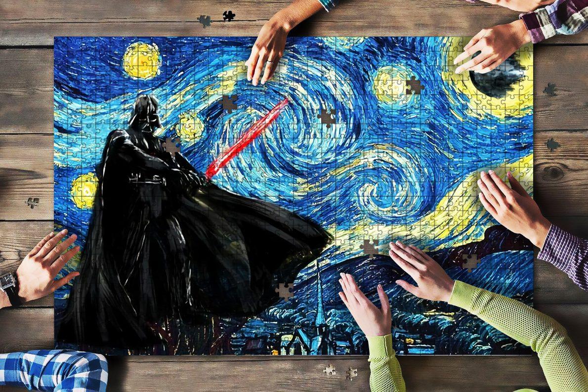 Vincent van gogh starry night darth vader star wars jigsaw puzzle 1