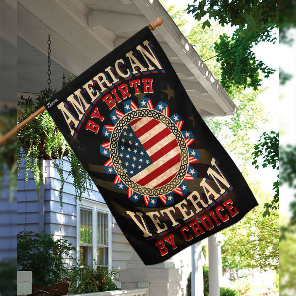 American by birth veteran by choice flag 2