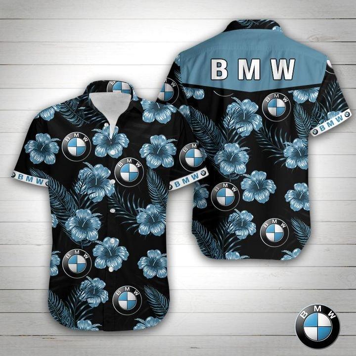 BMW tropical flower hawaiian shirt 1