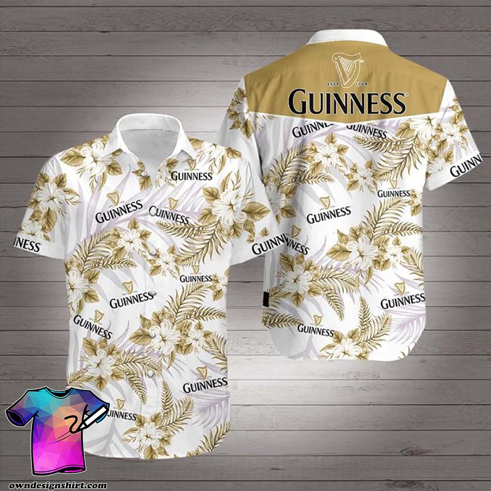 Beer guinness hawaiian shirt