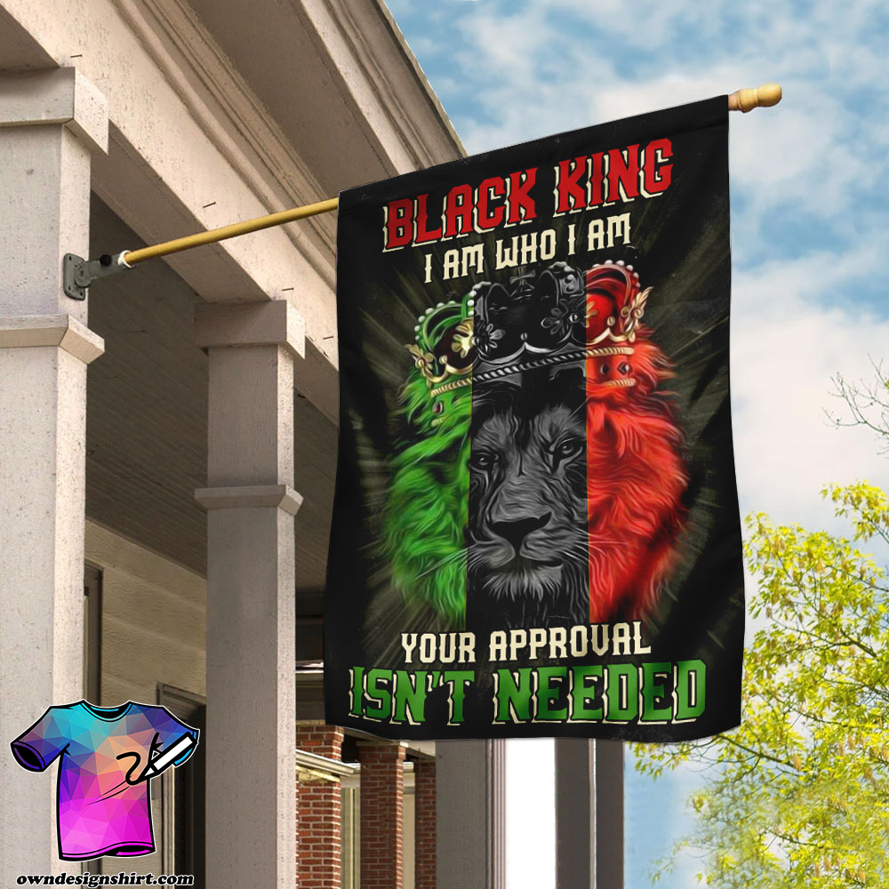 Black king i am who i am your approval isn_t needed flag