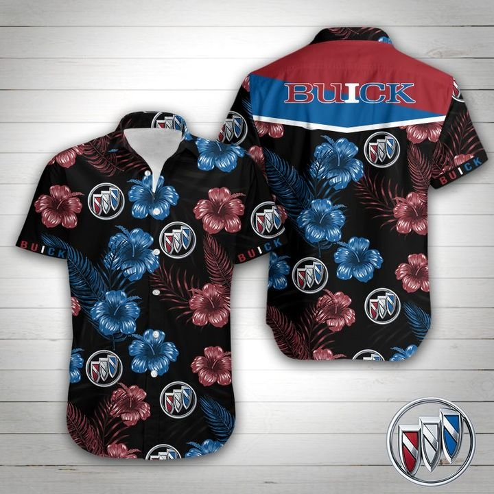 Buick tropical flower hawaiian shirt 1