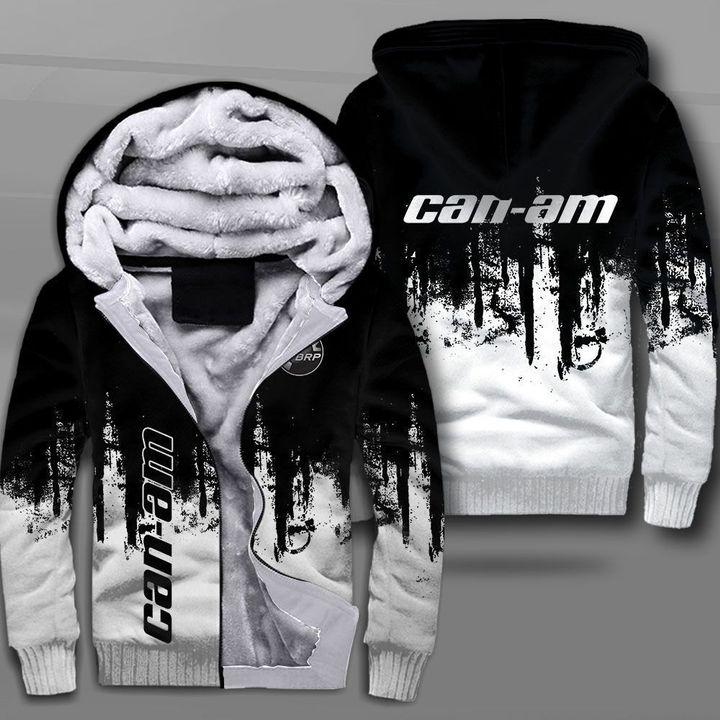 Can-am motorcycles logo full printing fleece hoodie