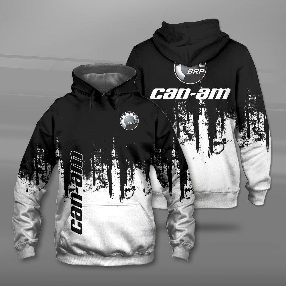 Can-am motorcycles logo full printing hoodie