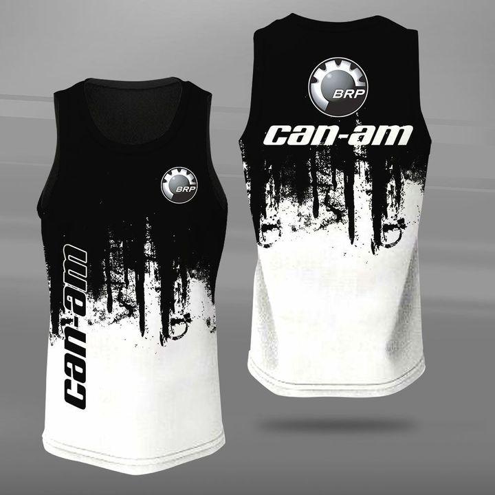 Can-am motorcycles logo full printing tank top
