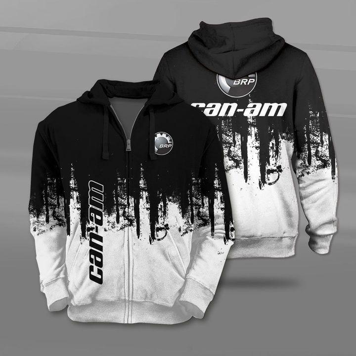 Can-am motorcycles logo full printing zip hoodie