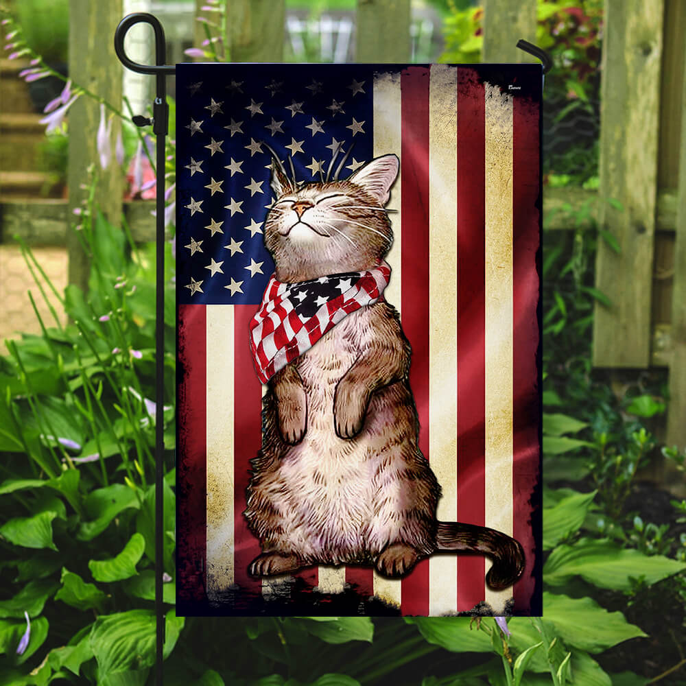 Cat american flag 1