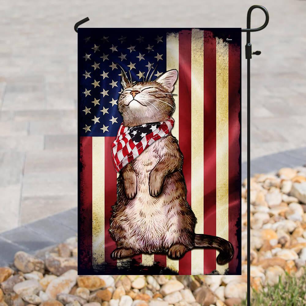 Cat american flag 2