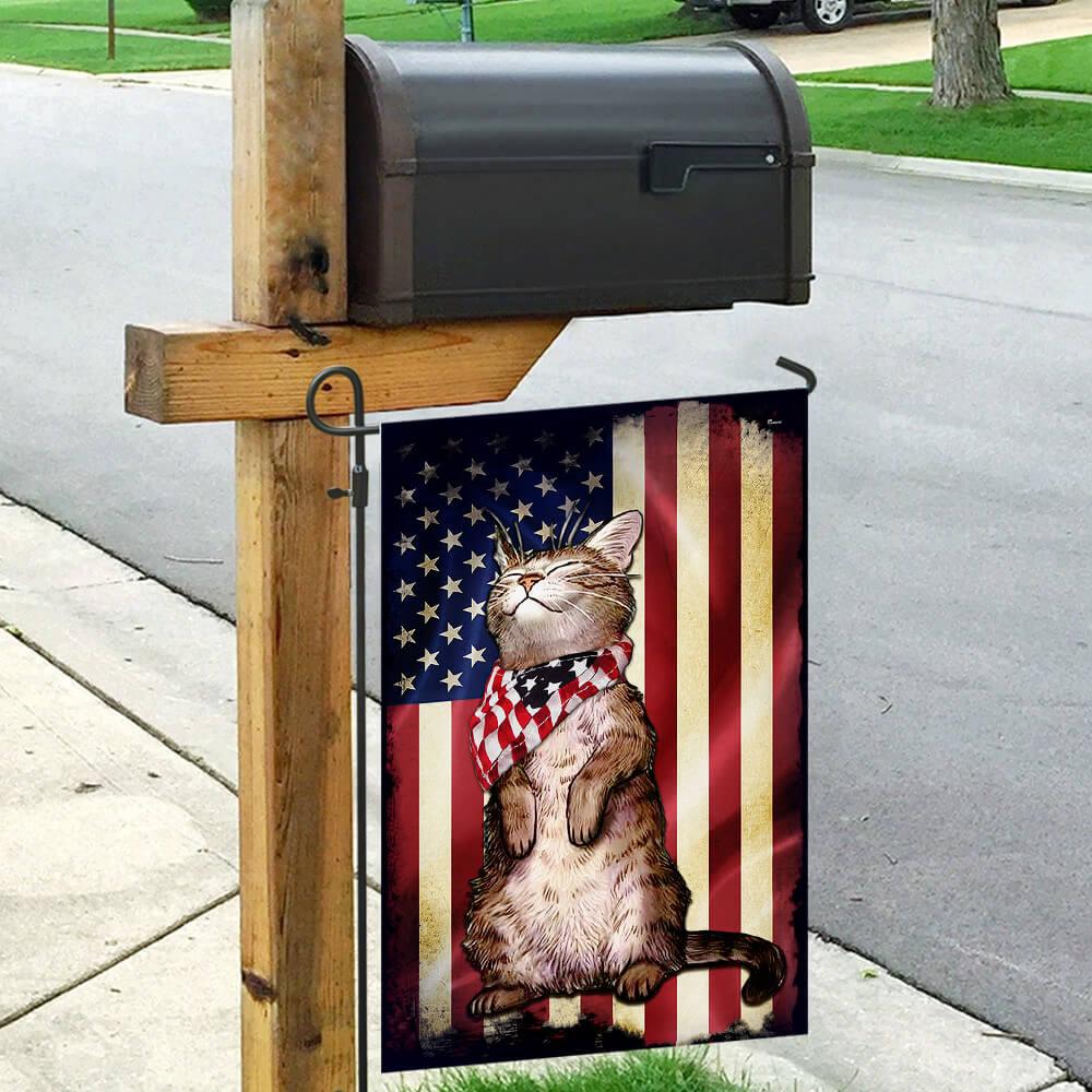 Cat american flag 3