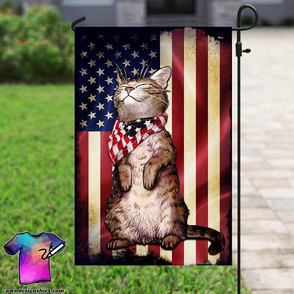 Cat american flag